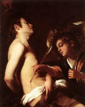 Giovanni Baglione : St Sebastian Healed by an Angel